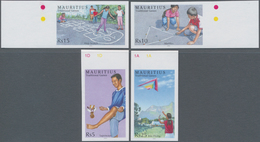 Thematik: Spiele / Games: 2006, MAURITIUS: Children's Games Complete IMPERFORATE Set Of Four (Sapsiw - Spiele