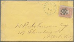 Thematik: Spiele-Schach / Games-chess: 1861 (ca.), USA: Washington 3c. Rose Used On Cover With Fancy - Schach