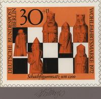 Thematik: Spiele-Schach / Games-chess: 1972, Berlin, Nicht Angenommener Künstlerentwurf (20x17) Von - Schach