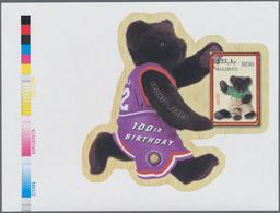 Thematik: Spielzeug / Toys: 2002, MALDIVES: 100th Birthday Of Teddy Bear Complete Set Of Three IMPER - Spiele