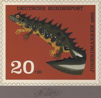 Thematik: Tiere-Amphibien / Animals-amphibian: 1963, Bund, Nicht Angenommener Künstlerentwurf (21x17 - Reptiles & Batraciens