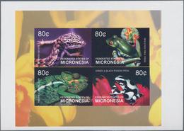 Thematik: Tiere-Reptilien / Animals-reptiles: 2003, MICRONESIA: Reptiles And Amphibians Complete Set - Reptiles & Batraciens