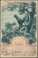 "Thematik: Tiere-Vögel / Animals-birds: 1900, German Reich. Private Postcard 3p ""Tapo Qualitätscigarr - Vögel"