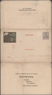 "Thematik: Tiere-Vögel / Animals-birds: 1905 (ca). Dreifach-Klappkarte 2 Pf Germania ""BEKA RECORD, Be - Vögel"