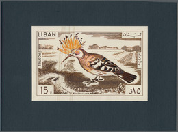 Thematik: Tiere-Vögel / Animals-birds: 1965, Libanon, Issue Birds, Artist Drawing (136x89) 15 Pia. H - Vögel