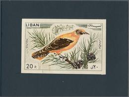 Thematik: Tiere-Vögel / Animals-birds: 1965, Libanon, Issue Birds, Artist Drawing (136x88) 20 Pia. O - Vögel