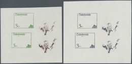 "Thematik: Tiere-Vögel / Animals-birds: 1972, Czechoslovakia, 2kc. ""European Goldfinch"" And 3kc. ""Son - Vögel"