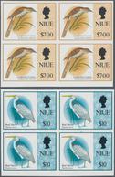 Thematik: Tiere-Vögel / Animals-birds: 1993, NIUE: Birds Set Of Two $7 Reef Heron And $10 Longtailed - Vögel