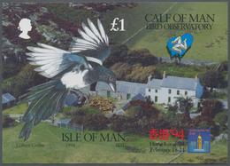 "Thematik: Tiere-Vögel / Animals-birds: 1994, Isle Of Man. IMPERFORATE Souvenir Sheet Of The Set ""Orn - Vögel"