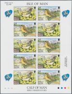 Thematik: Tiere-Vögel / Animals-birds: 1994, Isle Of Man. Complete IMPERFORATE Miniature Sheet Conta - Vögel