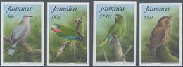 Thematik: Tiere-Vögel / Animals-birds: 1995, Jamaica. Complete Set BIRDS (4 Values) In IMPERFORATE S - Vögel