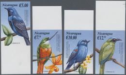 Thematik: Tiere-Vögel / Animals-birds: 2000, NICARAGUA: Birds Of America Complete IMPERFORATE Set Of - Vögel