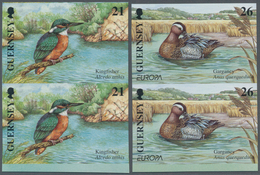 Thematik: Tiere-Vögel / Animals-birds: 2001, GUERNSEY: Europa-CEPT 'Birds' Complete Set Of Four In V - Vögel