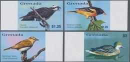 Thematik: Tiere-Vögel / Animals-birds: 2003, GRENADA: Birds Of The Caribbean IMPERFORATE Set Of Four - Vögel