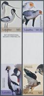Thematik: Tiere-Vögel / Animals-birds: 2004, Lesotho. Complete Birds Set In 2 Vertical Gutter Pairs - Vögel
