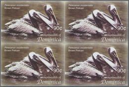 Thematik: Tiere-Vögel / Animals-birds: 2005, Dominica. Imperforate Block Of 4 For The 90c Value Of T - Vögel