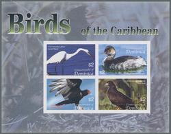 Thematik: Tiere-Vögel / Animals-birds: 2005, Dominica. Imperforate Miniature Sheet Of 4 For The Seri - Vögel