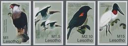 "Thematik: Tiere-Vögel / Animals-birds: 2007, Lesotho. Complete Set ""Birds From All Over The World"" ( - Vögel"