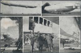 "Thematik: Zeppelin / Zeppelin: 1913, Bavaria. Private Postal Card 5pf Luitpold ""Offizielle Postkarte - Zeppeline"