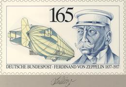Thematik: Zeppelin / Zeppelin: 1992, Bund, Nicht Angenommener Künstlerentwurf (26x15,5) Von Prof. H. - Zeppeline