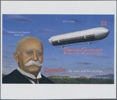 Thematik: Zeppelin / Zeppelin: 2000, GRENADA-CARRIACOU: 100 Years Of Zeppelin Airships IMPERFORATE M - Zeppeline