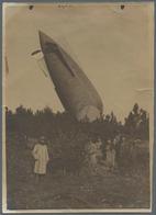 Thematik: Zeppelin / Zeppelin: 1915. Very Rare Series Of Four Original, Period Photographs Of The Fr - Zeppeline