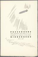 Thematik: Zeppelin / Zeppelin: 1936. Original Passenger List From On Board The Hindenburg Zeppelin D - Zeppeline