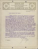 Thematik: Zeppelin / Zeppelin: Original Gustav Eyb Letter On His Letterhead Typewritten And Signed ' - Zeppeline