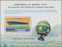 Thematik: Zeppelin / Zeppelin: 1983, Bicentennial Of Manned Flight - The Airship, Penrhyn Michel No. - Zeppeline