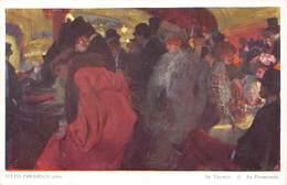 Otto Friedrich Pinx  Im Theater O Au Promenoir   Salon Viennois Galerie Wiener Kûnstler  Barry 4896 - Schilderijen