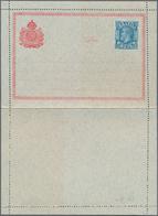 Brasilien - Ganzsachen: 1883, Two Rare Formuar Letter-cards With Adhesive Stamps (applied By Post Of - Postwaardestukken