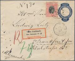 Brasilien - Ganzsachen: 1894, Stationery Envelope 300 R Deep-blue, Die I, Uprated 100 R Carmine/blac - Postwaardestukken