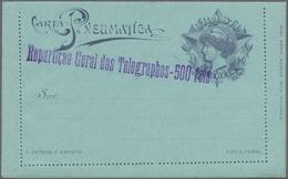 "Brasilien - Ganzsachen: 1917, Stationery Letter Card ""CARTA PNEUMATICA"" 300 Reis With Violet Imprint - Postwaardestukken"