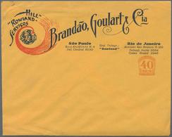 """Brasilien - Ganzsachen: 1927, Stationery Advertising Letter 40 Reis """"Hill Rowland Servicio Brandao, - Postwaardestukken"""