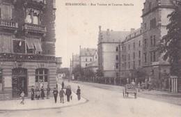 Carte 1900 Strasbourg : Rue Vauban Et Caserne Bataile (publicité Restaurant La Citadelle 9 Avenue Vauban) - Strasbourg