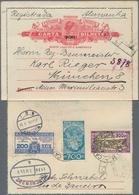 """Brasilien - Ganzsachen: 1931, Letter Card With Reduced Rate """"200"""" On 300 R Red Uprated 200 R, 300 R - Postwaardestukken"""