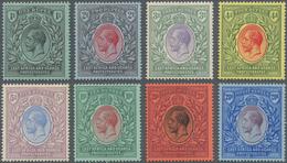 Britisch-Ostafrika Und Uganda: 1912/1918, KGV Part Set Of Eight With Wmk. Mult. Crown CA From 1r. Bl - Protectorados De África Oriental Y Uganda