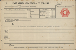 Britisch-Ostafrika Und Uganda - Ganzsachen: 1903 (ca.) Unused Postal Stationery Form For Telegraph A - Protectorados De África Oriental Y Uganda
