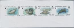 Britische Gebiete In Der Antarktis: 2009, Crabeater Seal, IMPERFORATE Proof Se-tenant Strip Of Four, - Ungebraucht