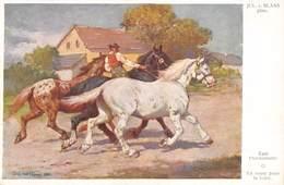 Jul. V. Blaas Pinx  Zum Pferdemarkt. O  En Route Pour La Foîre  Salon Viennois Galerie Wiener Kûnstler  Barry 4900 - Pintura & Cuadros
