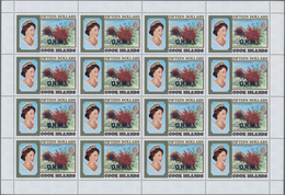 Cook-Inseln - Dienstmarken: 1990 (ca.), Michel Number 1408 With Overprint O.H.M.S. In Full Sheet Of - Cookinseln