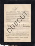 Doodsbrief Stéphanie LE REVERAND °1833 Anvers †1894 Château De Born/Sittard - Herman ULLENS De SCHOOTEN (H207) - Overlijden