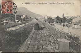 X122930 VAR TOULON QUARTIER DE L' ESCAILLON VUE GENERALE COTE EST GARE ? TRAIN CHEMIN DE FER VOIE FERREE - Toulon