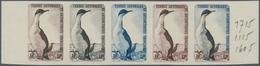 Französische Gebiete In Der Antarktis: 1959, 12fr. Cormorant, Imperforate Colour Proof, Marginal Str - Französische Süd- Und Antarktisgebiete (TAAF)