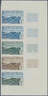 Französische Gebiete In Der Antarktis: 1960, 4fr. Leopard Seal, Imperforate Colour Proof, Marginal S - Französische Süd- Und Antarktisgebiete (TAAF)