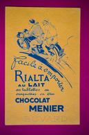 Buvard Chocolat MENIER, Moto - Moto & Vélo
