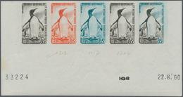 Französische Gebiete In Der Antarktis: 1960, 85fr. King Penguin, Imperforate Colour Proof, Marginal - Französische Süd- Und Antarktisgebiete (TAAF)