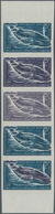 Französische Gebiete In Der Antarktis: 1966, 5fr. Blue Whale, Imperforate Colour Proof, Marginal Str - Französische Süd- Und Antarktisgebiete (TAAF)