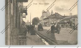 BELARUS / WEISSRUSSLAND - PINSK, Kiewer Strasse, Belebte Szene, 1916, Deutsche Feldpost - Weißrussland