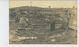 GUERRE 1914-18 - BELGIQUE - LIEGE - LONCIN - Belle Carte Photo Animée Dans Les Ruines En 1914 - Ans